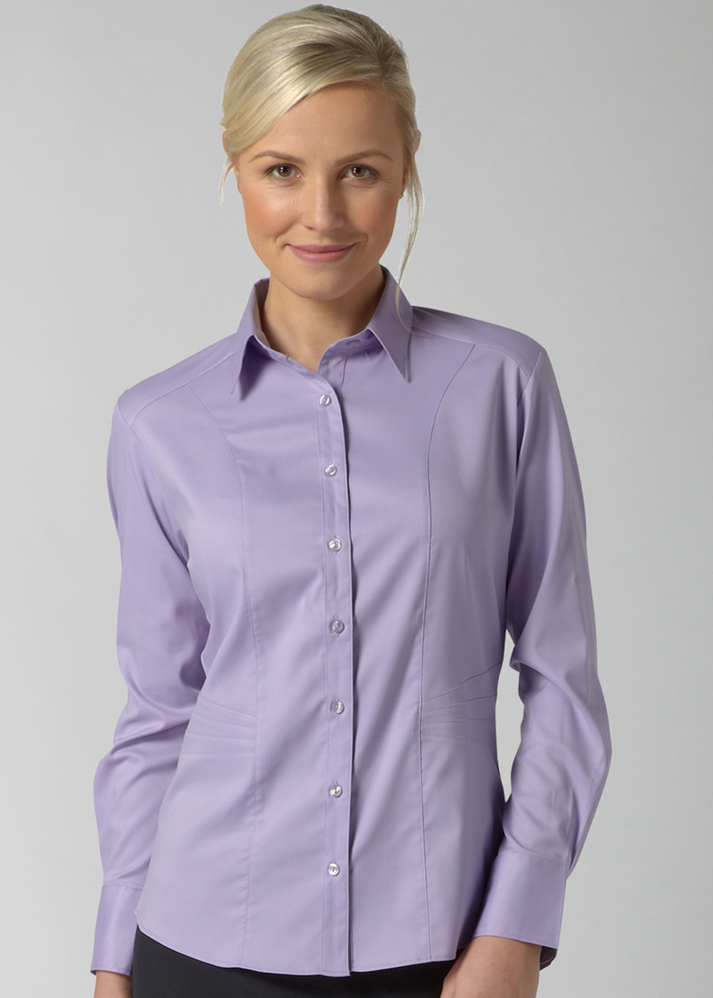 ANNABEL SS - Side Panel Detail Cotton Touch Stretch blouse