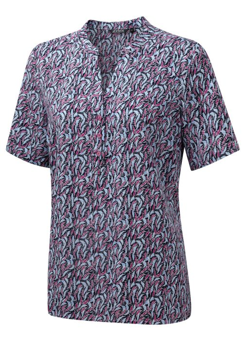 BILLIE - Printed soft touch crepe Pop-over blouse
