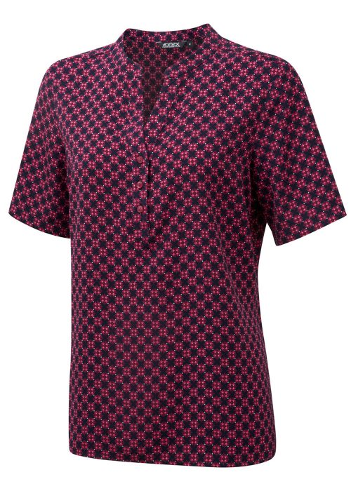 BONNIE - Printed soft touch crepe Pop-over blouse