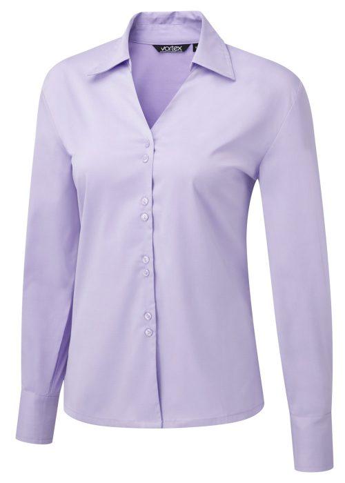FREYA LS - V-neck Cotton Touch Stretch