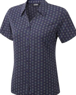 INGRID - Printed soft touch crepe blouse
