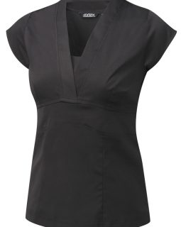 JOANNA - Cotton Touch Stretch v-neck top with side zip fastening