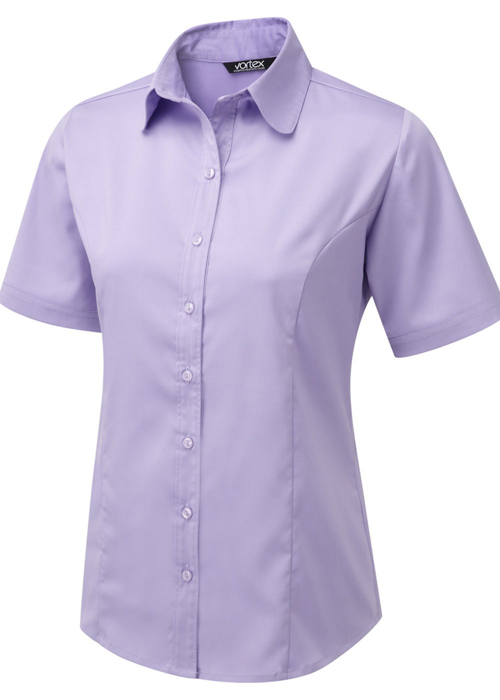 KATY - Shirt style Cotton Touch Stretch blouse