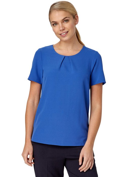 LIBBY - Pleat Front Shell Top