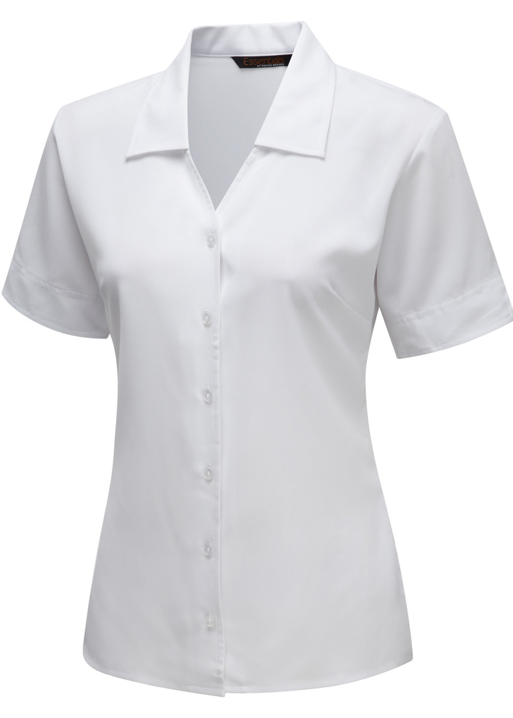 LILLIE - V-neck Stretch blouse with cut-away sleeve detail