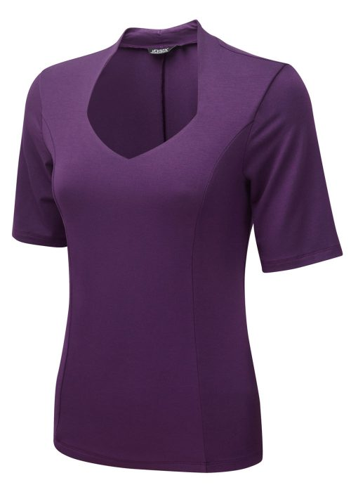 MARIE - Soft touch stretch jersey with sweetheart neck
