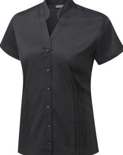 MIA - Cotton Touch Stretch blouse with mandarin collar
