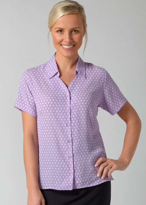 SOFIA - Printed soft touch crepe blouse