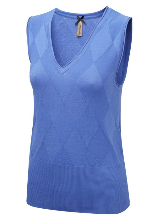 TALIA - Sleeveless V-neck jumper