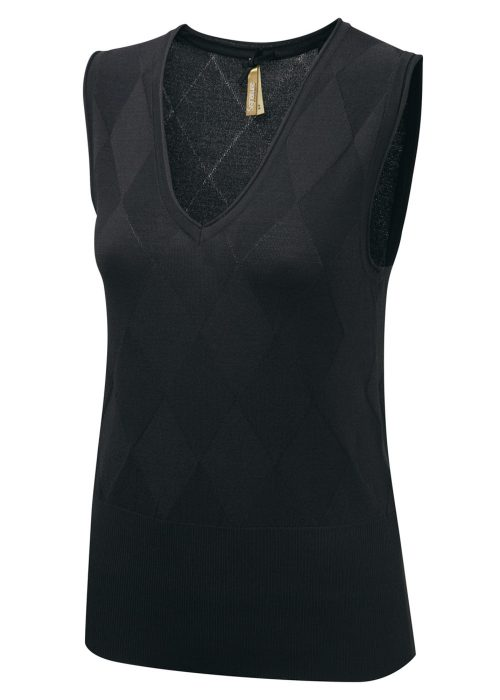TALIA - Sleeveless V-neck jumper