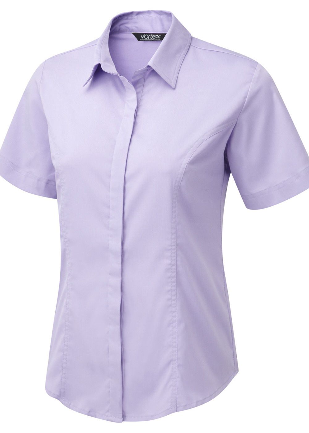 ZOE SS - Shirt style Cotton Touch Stretch blouse